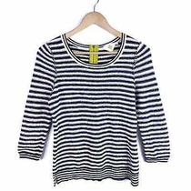 Hwr Monogram Anthropologie Striped Knit Top Size M Photo