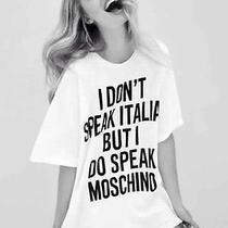 I Dont Speak Italian but I Do Speak Moschino Tshirt M/l Size Designer Coco Photo