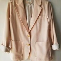 I Love H81 Women's Sz M Blush Pink Gold Button Blazer Suit Jacket Photo