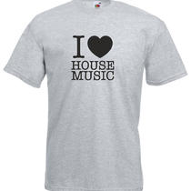 I Love House Music Printed Tshirt Photo