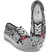 I Love Lucy Black & White Canvas Ked Style Womens Shoes 7.5 Vintage 50 Tv Show Photo