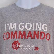 Im Going Commando Gears of War 3 Game Stop Prerelease Promo Gamer T Shirt - L Photo