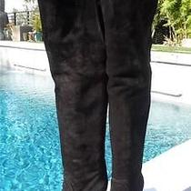 I Must Be Dreaming1390 Givenchy Blk Nubuck Over-the-Knee Knit Cuff Boots 39 Photo