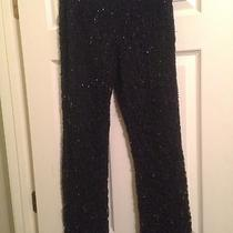 I. N. C. Black Lace and Beaded Pant Photo