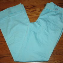I.n. San Francisco Light Aqua Blue Wide Cuffed Leg Casual Pants Juniors Size 9 Photo