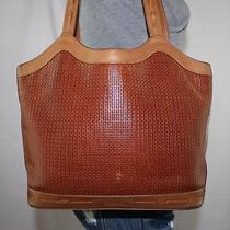 I Santi Italy Braided Brown Leather Shoulder Hobo Tote Satchel Slouch Purse Bag Photo