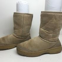 I Womens Ugg Australia Winter Suede Ivory Boots Size 6 Photo