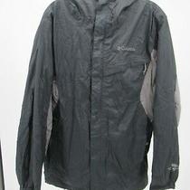 I2778 Vtg Men's Columbia Full-Zip Hooded Nylon Windbreaker Jacket Size S Photo