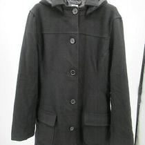 I2803 Vtg Women's Gap Button-Down Hooded Coat Size L Photo