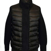 I5 Auth Moncler Maglione Black & Navy Knit Trim & Sleeve Down Jacket Size M 870 Photo