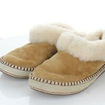 I52 100 Women's Sz 8 M Ugg Wrin Suede & Genuine Shearling Slippers -Chestnut Photo