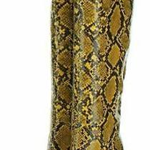 I63 New 195 Women's Sz 7.5 M Jeffrey Campbell Siren Snake Embossed Knee High Photo