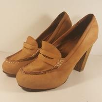 Ibeza Last Penny Lane Jeffery Campbell Tan Leather Wood Heels Women 10          Photo