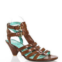 Ibiza Last Jeffrey Campbell Brown Leather Strappy Slingback Sandals Size 10 Photo