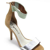Ibiza Last Jeffrey Campbell Womens Color Block Sandals Brown Gray Suede Size 8 Photo
