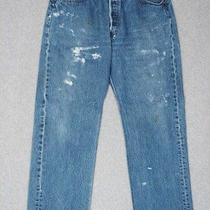 Ic27454 Cool Usa 2002 Levis 501xx Jeans 34x29 Great Paint Photo