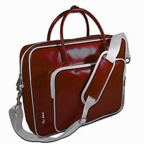 Ice Red Shine Glossy Laptop Briefcase Red Photo