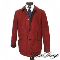 Iconic Barbour of England D218 Classic Country Cranberry Quilted Wind Coat S Nr Photo