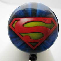 Id Badge Reel Retractable Superman Name Tag Holder Photo