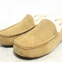 Ie-124  Ugg Ascot Men's Chestnut Leather Slippers Sz 10 Photo