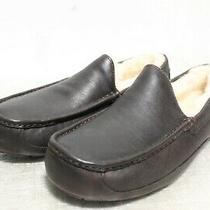 Ie-129  Ugg Ascot Men's Leather Slippers Sz  12 Photo