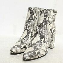Ie-287 Steve Madden Women's Therese Natural Snake Boot Sz 10m Photo
