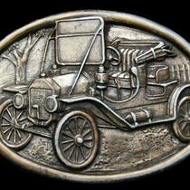 If25138 Very Cool Vintage 1970s Avon Model T Ford Belt Buckle Photo