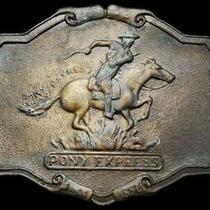Ik19109 Great Vintage 1970s Pony Express Since 1852 Belt Buckle Photo