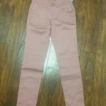 Iman 360 Slimming Luxury Denim Skinny Jeans Sz 8 Average Deep Blush Photo