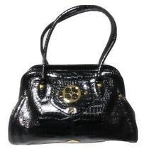 Iman Shoulder Tote Bag Large Handbag Patent Leather Purse Croc Embossed Photo