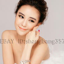 Imitation Pearl Silver Luxury Diamond Bride Married Bracelet With Jewelry 019 Photo