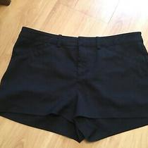 Immaculate Pair Ladies/older Girls Black Hot Pants/shorts H & M Size 40 Uk 12 Photo