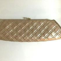 Impressive 700 Rodo Italy Clutch Rose Gold Metallic Leather Gold Studs Photo