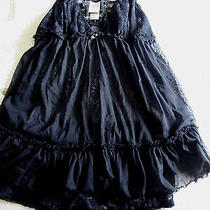 in Bloom by Jonquil 2 Piece Floral Black Lace Babydoll Sleepwear Set Size Small Photo