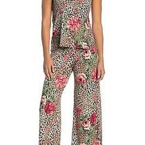 In Bloom by Jonquil Cami & Pants 2-Piece Pajama Set S Leopard Floral Print Nwt Photo