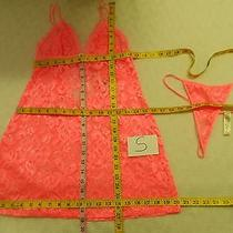 In Bloom by Jonquil 'Exclusive' Lace Babydoll & G-String Pink S -Nwt-40 Photo