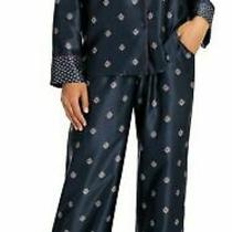 In Bloom by Jonquil Geo Flora Satin Long Sleeve Shirt & Pants 2-Piece Pajama Set Photo