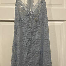 In Bloom by Jonquil Lingerie Womens Size S Blue Sexy Babydoll Chemise Lace Nwot Photo