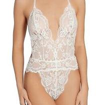 In Bloom by Jonquil Roxy Lace Thong Teddy Color White Size Xs(192) Photo