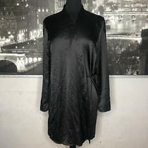 In Bloom by Jonquil Size Xs Wrap in Black Sleeve Lace Detail Sleepwear New Photo