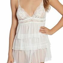 In Bloom by Jonquil Womens Lingerie White Size M Tiered Babydoll Chemise 68 307 Photo