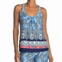 In Bloom by Jonquil Womens Sleepshirt Blue Size Medium M Paisley Print 31- 277 Photo
