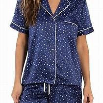 In Bloom by Jonquil Womens Sleepwear Blue Large L Dot Print Sleepshirt 35- 225 Photo