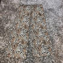 In Bloom Jonquil Pajama Pants Plus Sz 1x Brown Leopard Lounge Pockets Drawstring Photo