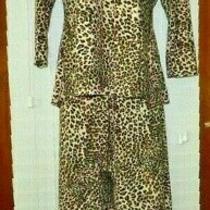 In Bloom Jonquil Sz L Leopard Pajama/lounge Pajamas 2 Pc Set Polyester/spandex Photo