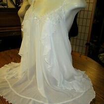 In Bloom White Nightie Chemise Gown Sexy Sleepwear Babydoll Lingerie L Bridal  Photo