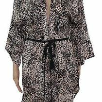 In Bloom Women's Sleepwear Black Size Xs Animal Print Ribbon Belt Robes 58 308 Photo
