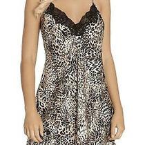 In Bloom Women's Sleepwear Brown Size Large L Babydoll Cheetah Print 42 098 Photo