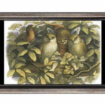 In Fairyland Birds Fantasy Art Belt Buckle Sturdy Metal Usa Made Photo