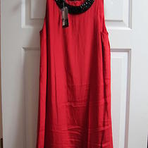 Inc 100%Silk Red Dress Sz4 Nwt Photo